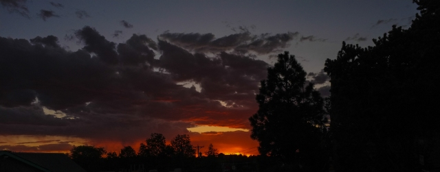 A sunset from Rancheros de Santa Fe campground