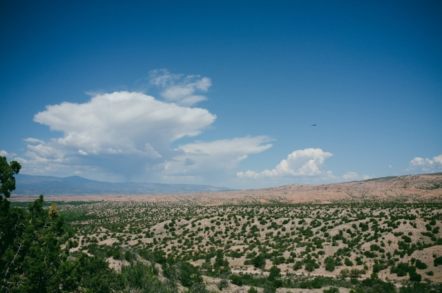 The southern end of the high road to Taos