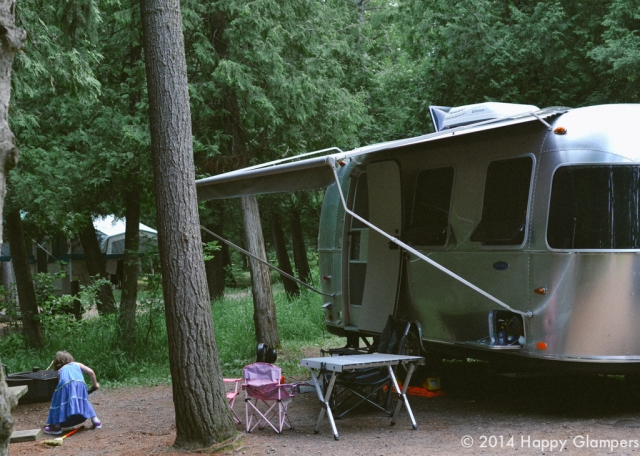 Setting up camp at Jay Cooke State Park with an Airstream