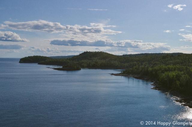 Landscape of Lake Superior forests