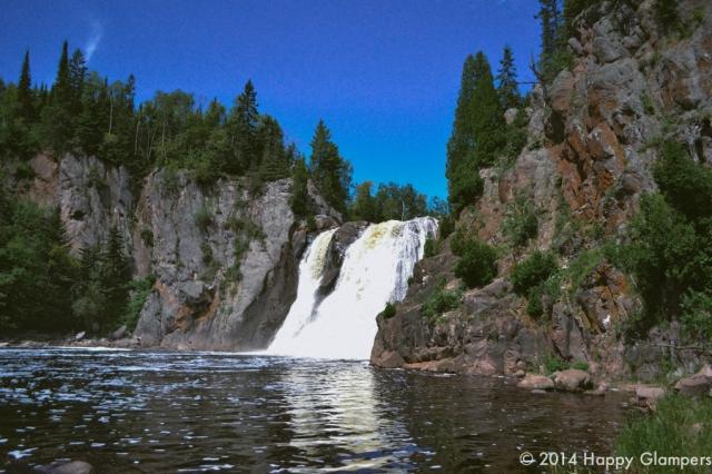 Baptism River twin falls Tettegouche State Park