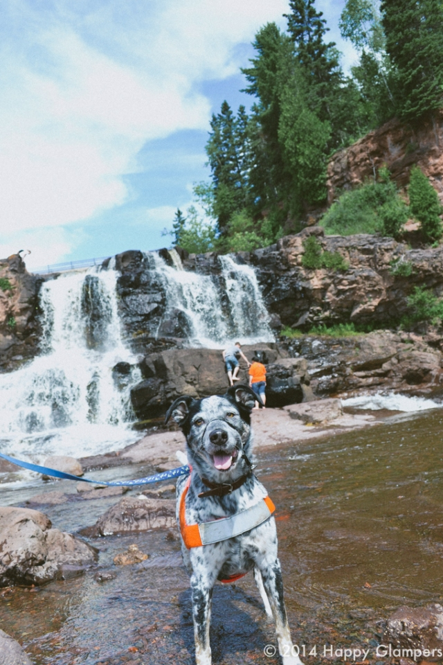 Gooseberry Falls State Park with dog