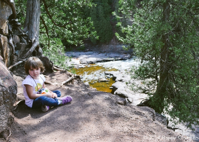 Hiking with kids at Gooseberry Falls State Park Minnesota