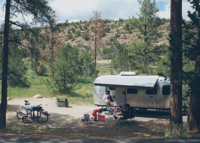 Airstream at Bandelier National Monument