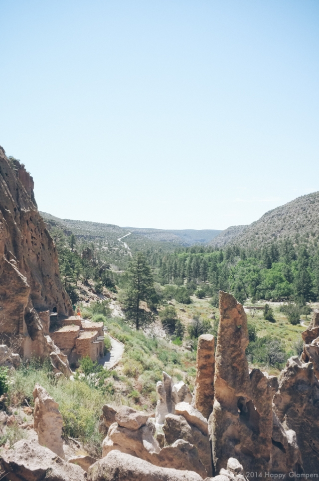 Bandelier from a cliff dwelling