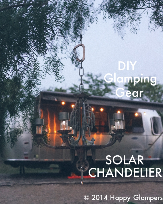DIY Outdoor solar Chandelier