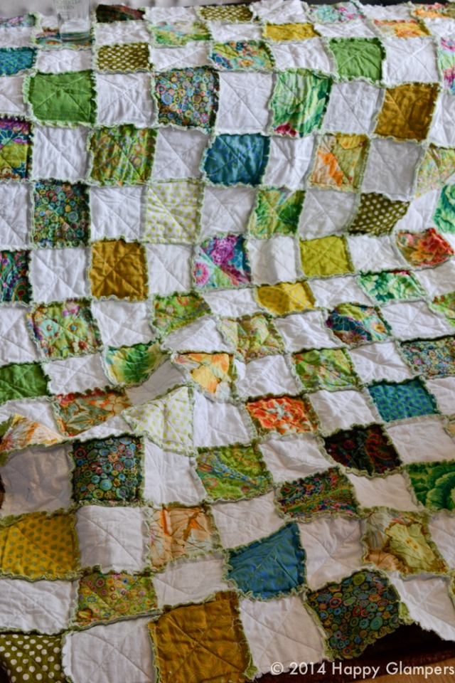 Rag quilt completed