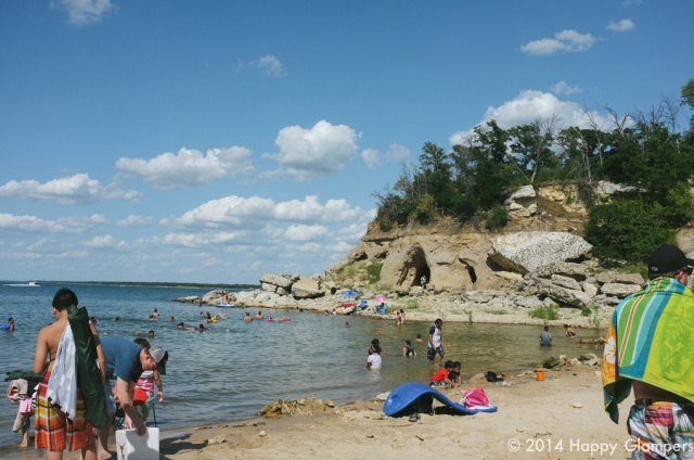 Swimming and caves at Eisenhower State Park