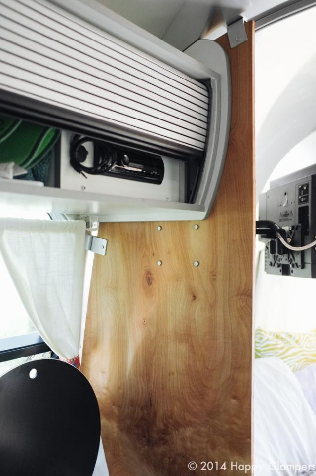DIY airstream improvement divider tv mount